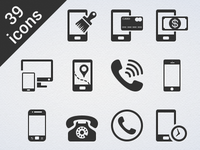 39 Phone Glyph Vector Icon