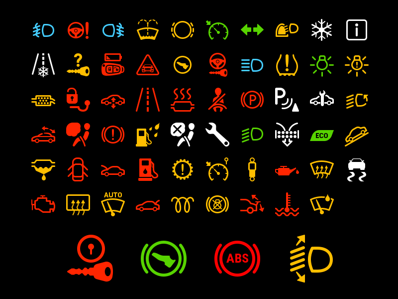 Car Dashboard Symbol Icon by Alexei GlumPix | Dribbble ...