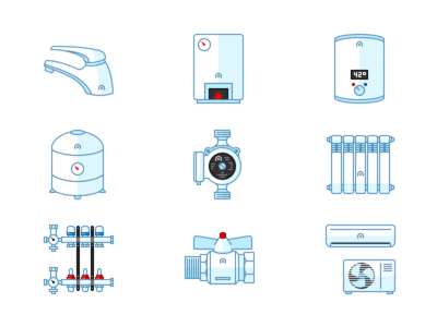 Plumbing And Heating Supplies Icon