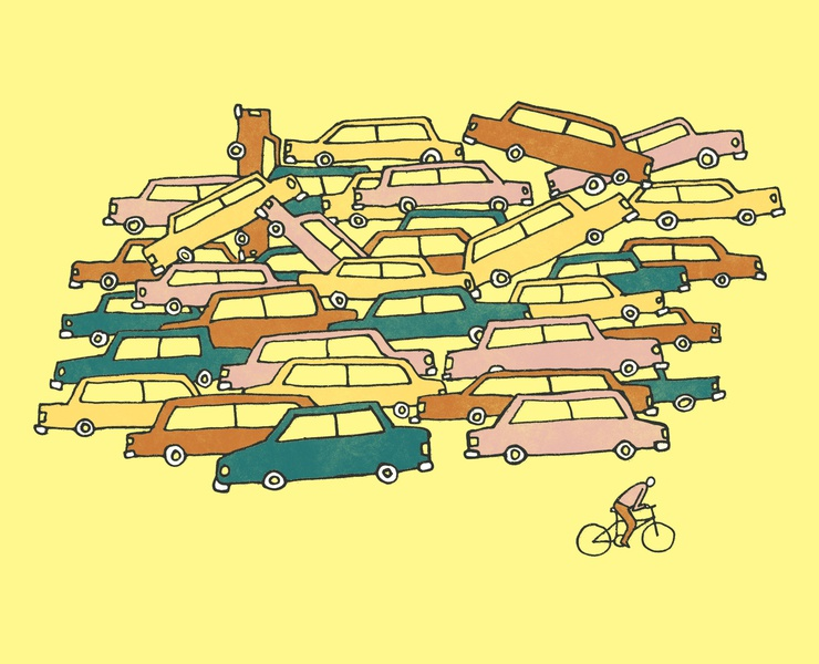 Open Rode illustrator tshirt threadless transportation street road traffic environment ride city bicycle car bike