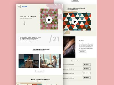 ArtsHub Design Concept graphic design illustrations website concept web design ux