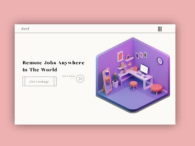 Devi Remote Jobs Design Concept illustration design website concept ui branding web design ux illustrations graphic design