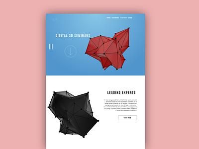 3D Seminar Concept illustration design website concept ui branding web design ux illustrations graphic design