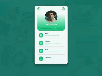 AppyWork User Profile user profile ui uiux dailyui006 user profile
