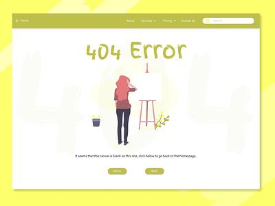 404 Error Page - Artwork Website ui design 404 uiux 404 error dailyui008