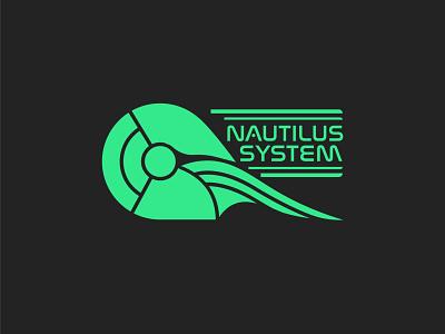 Nautilus System (Sci-fi Helmet) branding logo graphic design