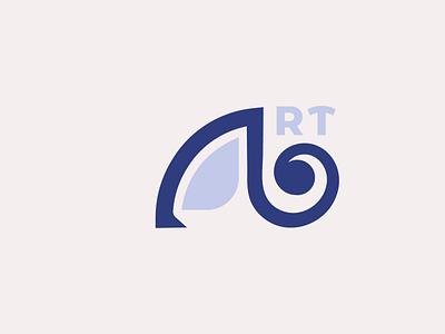 ART (Augmented Real-Time) minimalism techno ar branding logo graphic design
