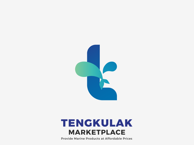 Tengkulak (Fish Marketplace Brand) branding logo graphic design