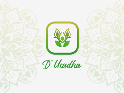 D'Usadha (Traditional Medicine Brand) mandala green medical therapy yoga wisdom local herbal branding graphic design logo