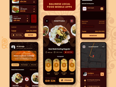 Balinese Local Food Mobile Apps graphic design ui