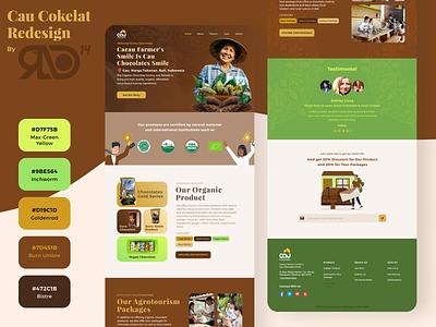 Cau Chocolate Landing Page Redesign graphic design branding ui