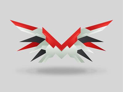 MX (Mechanix) Wings illustration logo graphic design