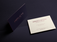Light Business Card, Smplicty Stationary
