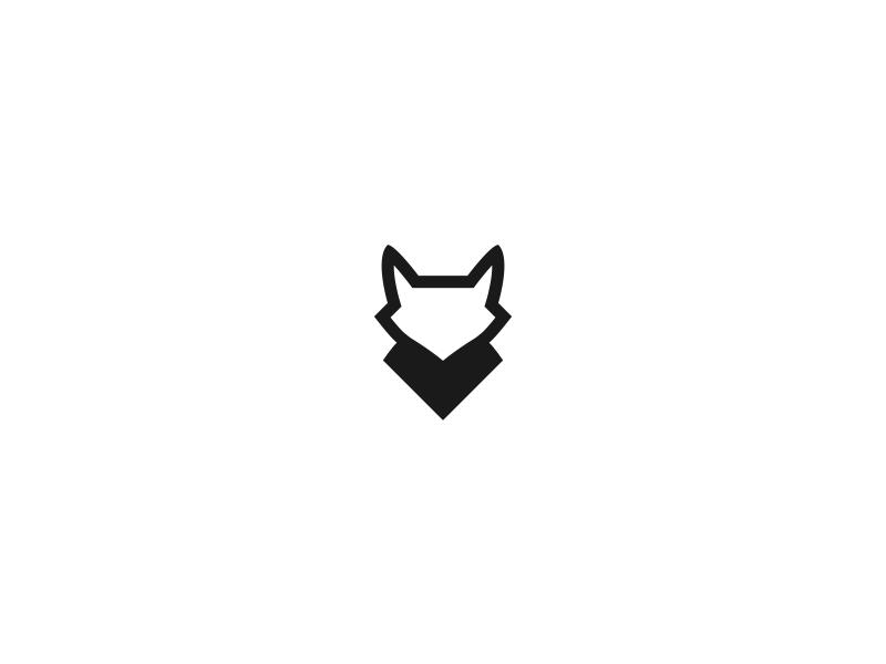 Branding vector line minimal animal dog wolf fox mark logo identity branding