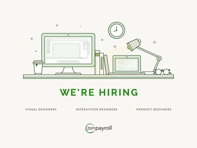 ZenPayroll is Hiring   Interaction, Visual, Product Designers zenpayroll designers hiring careers design visual designer product design