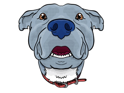 Bayne best friend memoriam design vector love digital illustration illustraion pitbull