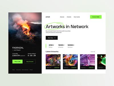 NFT Marketplace Concept ethereum web website design ui design artist marketplace blockchain crytocurrency cryto nft