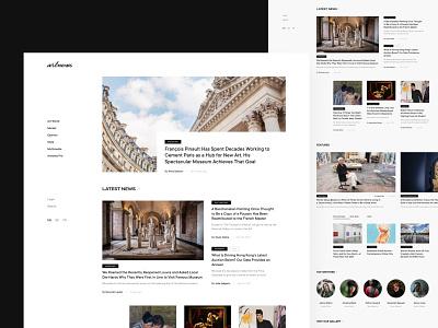 Artnews Website Redesign artist dailyui dai illustration home screen redesign minimalism minimal blog news website ui design art