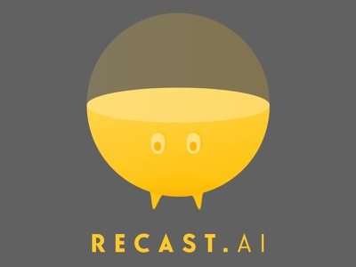 Recast.AI Logo artificial intelligence mascot bubble logo