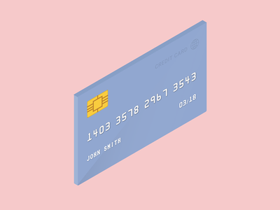 Card checkout visa credit illustration card payment isometric 3d