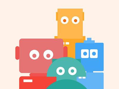 Bots funny chatbot chat intelligence bot robots illustration