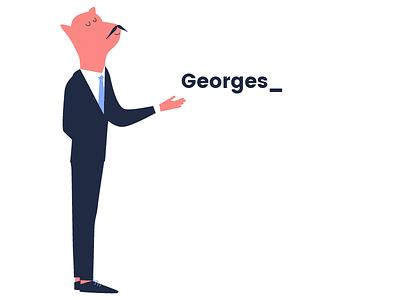 Georges_ illustration animals butler dog pig nestor georges