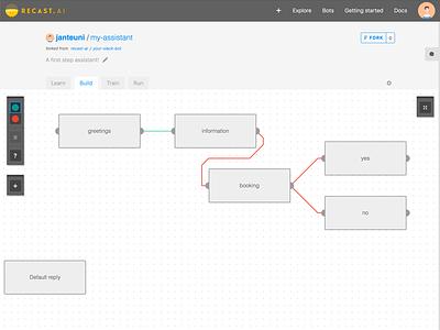 Bot Builder web chatbot conversation flow builder interface bot