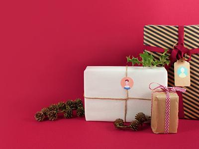 Christmas present christmas present gift branding photography