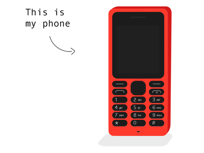 My red phone illustration nokia smartphone phone red