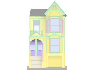 San Francisco house building architecture home san francisco window illustration house