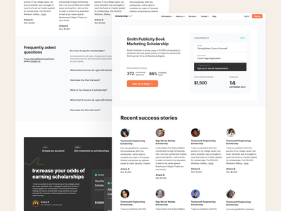 External Scholarship Pages Redesign scholarships vector typography ui uiux homepage illustration ux uxdesign design