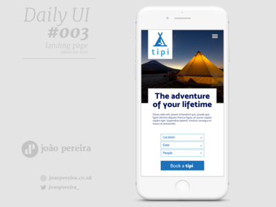 Daily Ui #003 - Landing Page