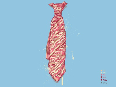 Dribble Its Bacon Tie