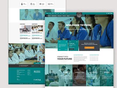Web Design: Ponce Health Sciences University design ui ux web design