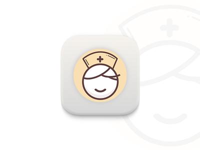 Nurse App icon logo nurse ux ui app icon