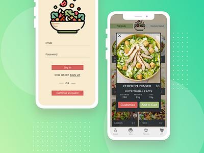 Salad app ui ux
