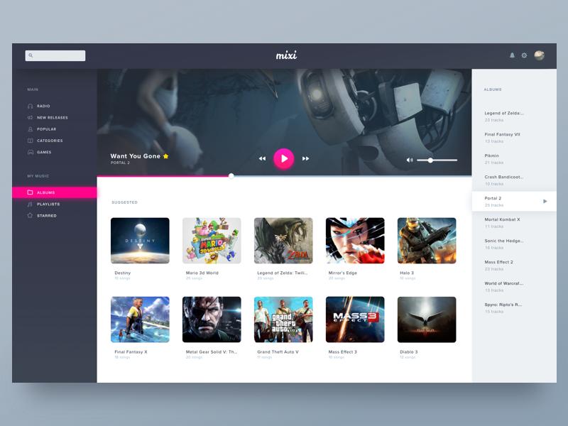 Video Game Music App by Samantha Rushing | Dribbble | Dribbble