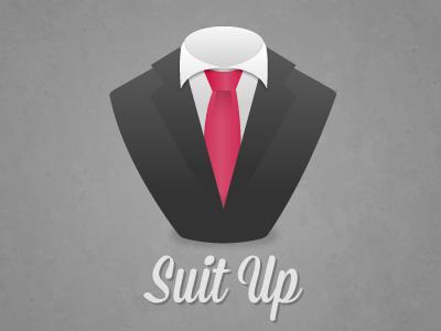 Suit Up suit icon himym illustration vector