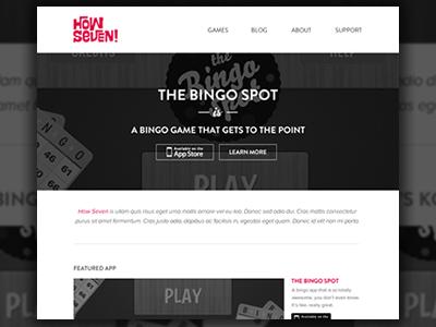 How Seven Website how seven website web responsive app app site homepage minimal