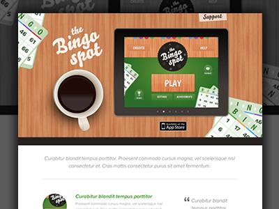 Bingo Spot Website website app site app bingo bingo spot wood coffee