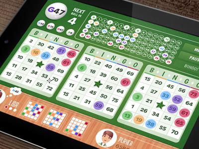 Bingo: In-Game Screenshot bingo ipad game app felt green wood
