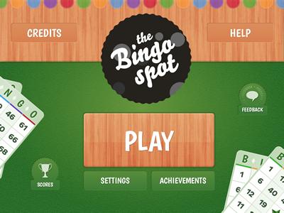 Bingo App Main Screen bingo app main screen play bingo spot felt wood green