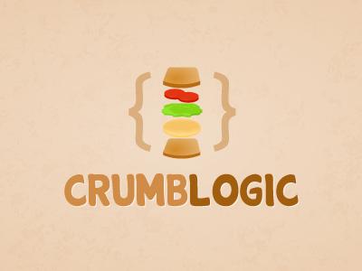 CrumbLogic Logo sandwich logo brown bread tomatoes lettuce logic crumb