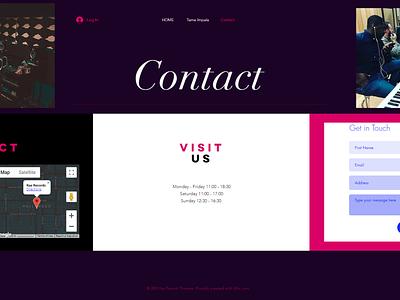 Contact ui ux design branding
