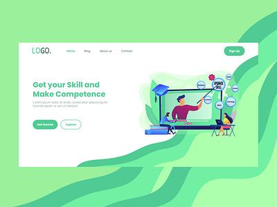 Cource Landingpage graphic design ui