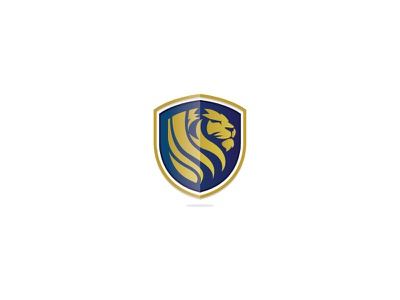 Lion bluegold branding brand lionlogo logo lion