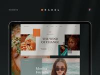 Orabel Web & Mobile UI Kit psd figma orange style fashion pages templates kit ui mobile website web