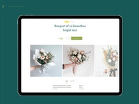 Florence - eCommerce Web UI Kit marketing flowershop store templates figma kit ui web flowers