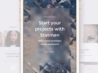 Statmen XD iOS Ui Kit - Walkthrough