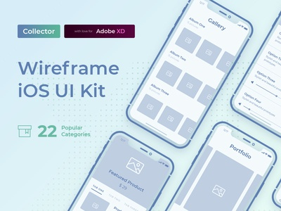 Collector iOS Wireframe Kit